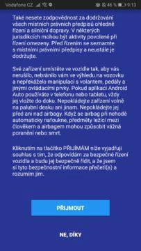 Android Auto umí česky