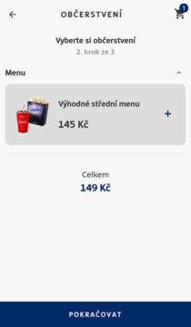 Aplikace CineStar vstupenky a občerstvení