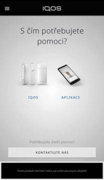 aplikace iqos technická podpora