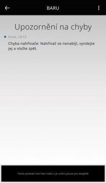 aplikace iqos hlášení o chybě