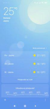 Aplikace Mi Počasí