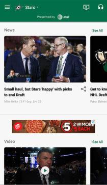 Aplikace NHL Dallas stars