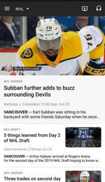 Aplikace NHL drafty