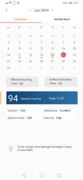 Kalendář čištění zubů - elektrický kartáček Xiaomi