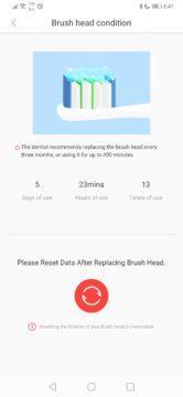 Ukazatel opotřebení kartáčku - elektrický kartáček Xiaomi