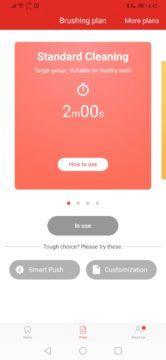 Jemný režim čištění - elektrický kartáček Xiaomi