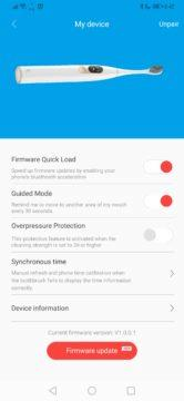 Nastavení kartáčku - elektrický kartáček Xiaomi