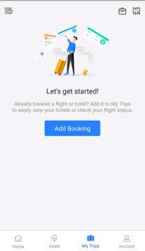 aplikace trip.com plán cesty