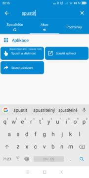 Automatizace Android telefonu - Akce po připojení sluchátek 04