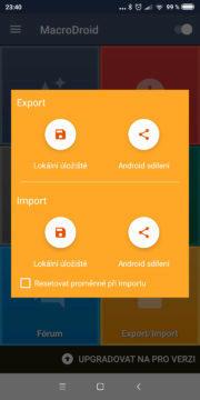Automatizace Androidu - MacroDroid 07