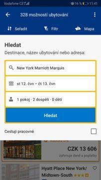 Booking rezervace - české mapy