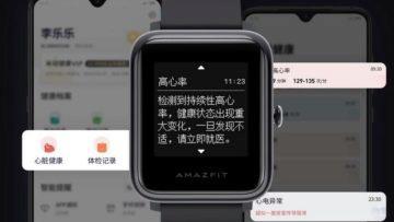 Čína - hodinky Huami Health EKG