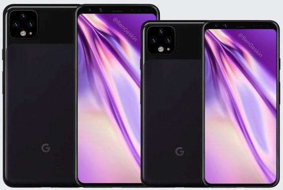 google pixel 4 vzhled spekulace render