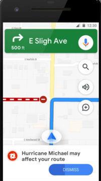 Navigace okolo nebezpečí - Google Mapy