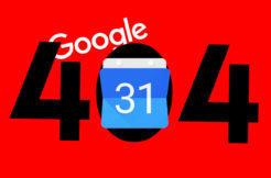 Google kalendář výpadek 404