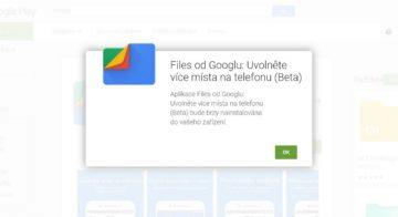 Google Files - temný režim - Google Store