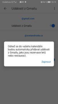 Google kalendář - phishing útoky - výchozí nastavení