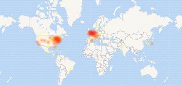 Google kalendář má výpadek - mapa