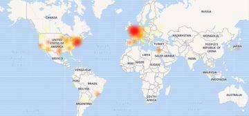 Výpadek Google kalendáře pokračuje - mapa