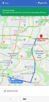 Google mapy hlídají taxikáře