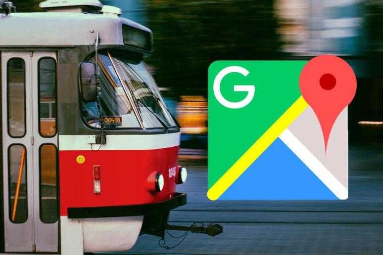 Google Mapy hromadná doprava