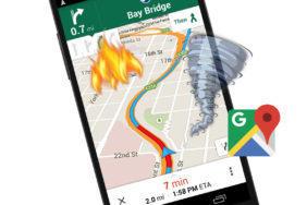 Google Mapy - katastrofy