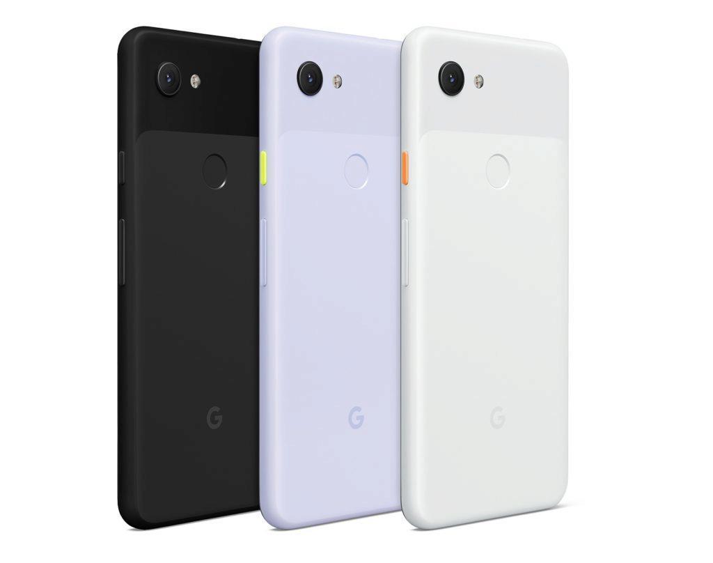 Google Pixel 3a barevné varianty