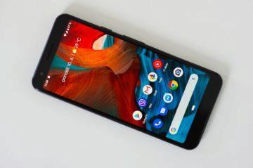 Google Pixel 3a displej