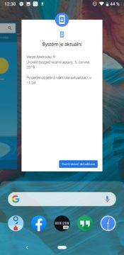 Google Pixel 3a spuštěné aplikace