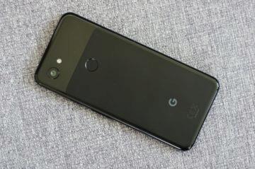 Google Pixel 3a zadní strana