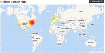Google služby výpadek