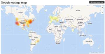 Google výpadek služeb mapa