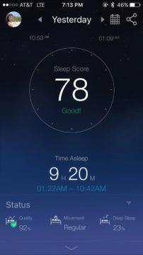 Aplikace monitoru spánku Xiaomi