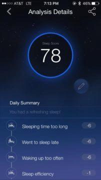 Aplikace monitoru spánku