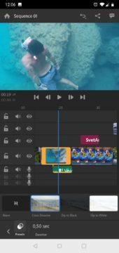 Adobe premiere rush strih videa editor editace aplikace