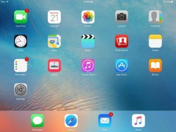 iOS - statické uspořádání ikon