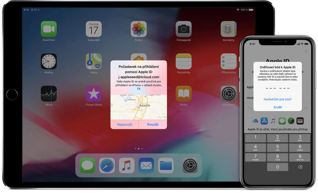 Jak funguje dvoufaktorové ověření u iOS