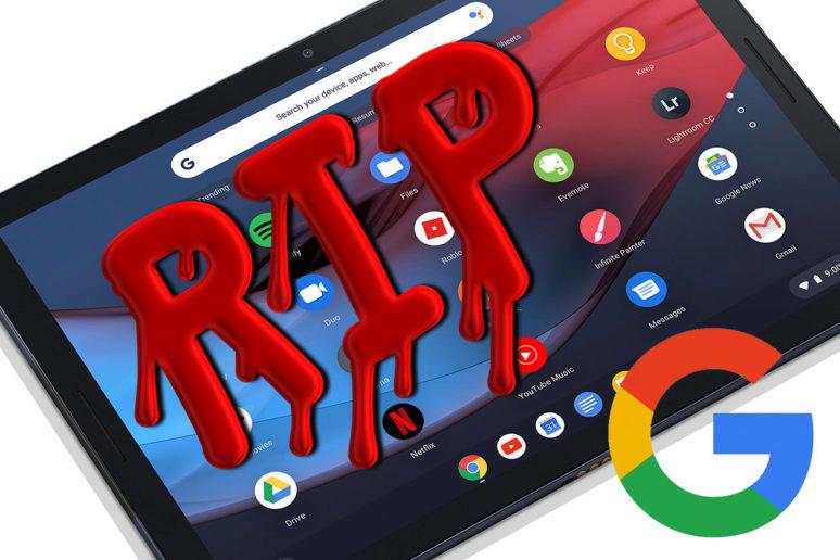 Tablety google končí