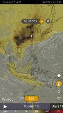 Kvalita vzduchu - Windy