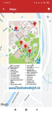 Mapa areálu akce