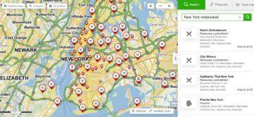 Mapy CZ - Booking, restaurace v New Yorku