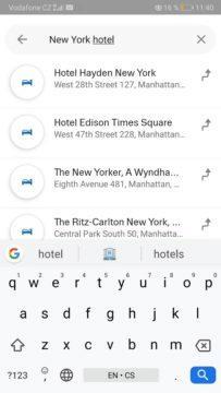 Mapy.cz - rezervace hotelu