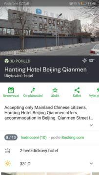 Mapy CZ - rezervace hotelu v Pekingu