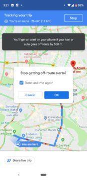 Mapy Google sledují taxi
