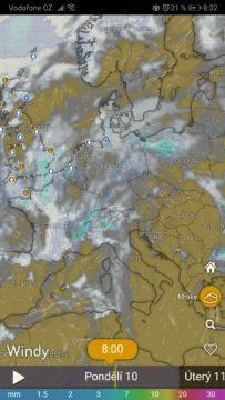 Meteo radar - počasí