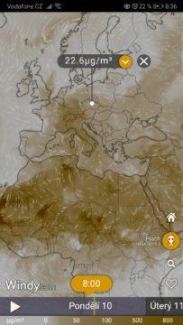 Míra prachu - znečištěné ovzduší
