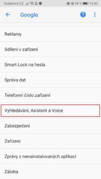 Mobil - OK Google - asistent