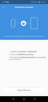 Nastavení odemknutí telefonu pomocí Xiaomi Mi Band 4