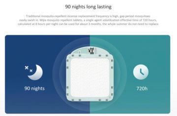Výdrž elektrického odpuzovače komárů