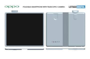 Rozložený ohebný mobil Oppo